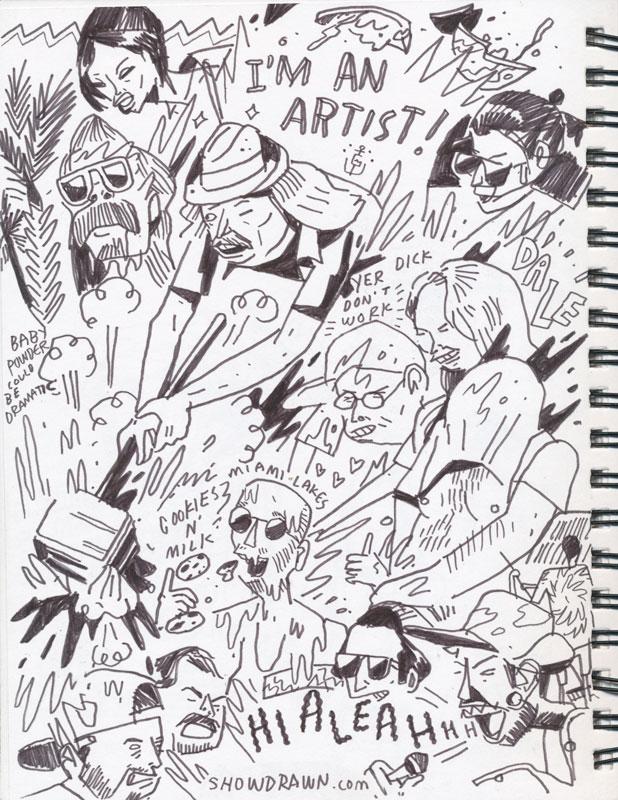 Gallagher live at gramps drawn illustration